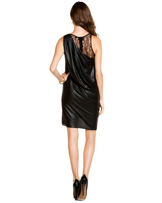 Other Asymmetrical Draped Lace Shimmery Racer-back Dress