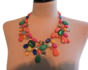 Other Multicolored Jewel Bib Necklace with mixed stone