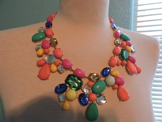 Other Multicolored Jewel Bib Necklace with mixed stone Image 2