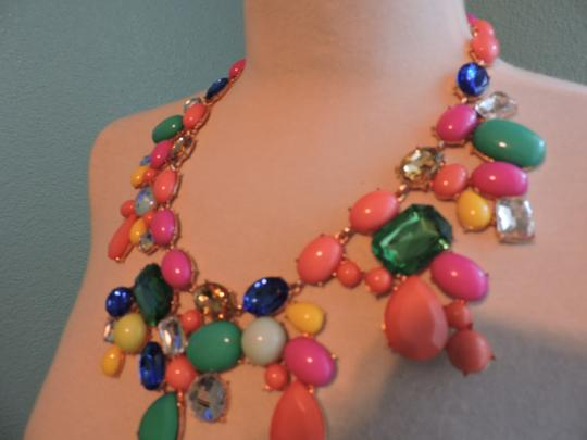 Other Multicolored Jewel Bib Necklace with mixed stone Image 3