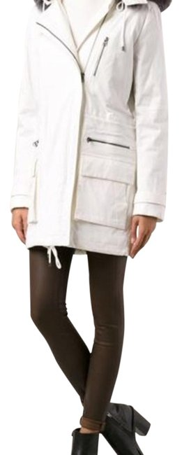 Item - White with Tan Diamond Quilted Lining V219290586 Coat Size 4 (S)