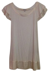 bebe short dress white Tunic Silk Nye on Tradesy