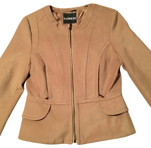 Express Zip Up Tan Jacket