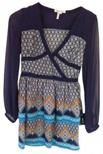 BCBGeneration short dress blue/multi on Tradesy