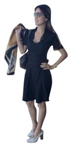 Karen Millen short dress Lace nude black on Tradesy