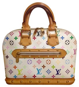 Louis Vuitton Satchel in White Multicolor