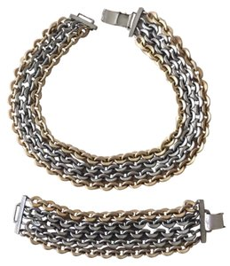 Chain link Necklace and Bracelet