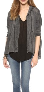 Free People New Free People One Love Charcoal Grey Hooded Jacket