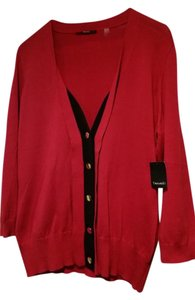 Tahari Cardigan Button Down Red Sweater