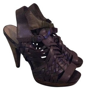 Jessica Simpson Brown leather Platforms