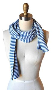 Gap Gap Blue and White Striped Scarf