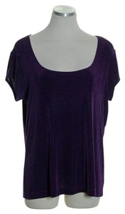 Chico's Short Sleeve Knit Top Purple