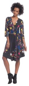 Plenty by Tracy Reese short dress Floral Grey Floral Surplice 3/4 on Tradesy