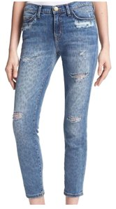 Current/Elliott The Fling Vintage Capri/Cropped Denim-Distressed