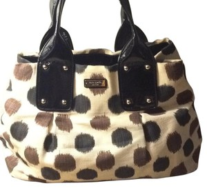 Kate Spade Satchel in Black, Cream, Brown