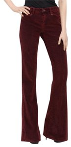 Theory Flare Pants Wine