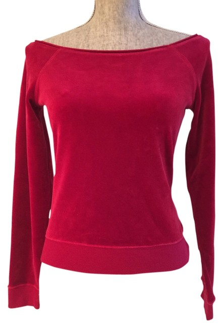 Express Tops Velour Tops S Size Small Tops T Shirt Red