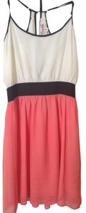 Emmelee short dress White and coral pink on Tradesy