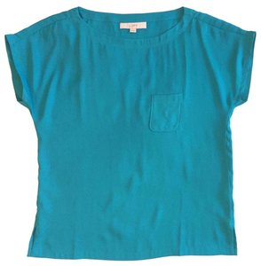 Ann Taylor LOFT Teal Pocket Top