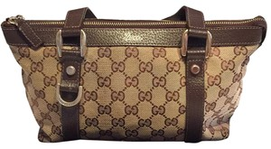 Gucci D Ring Canvas Purse Tote in Brown