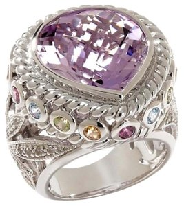 Sima K Sima K 13.48ct Amethyst and Multigemstone Sterling Silver Ring - Size 8