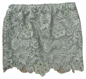 English Rose Mini Skirt Gray