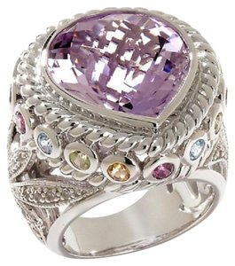 Sima K Sima K 13.48ct Amethyst and Multigemstone Sterling Silver Ring - Size 9