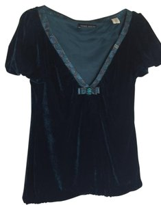 Miss Sixty Velvet Top Dark Turquoise