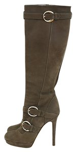 Versace Suede Knee Boot Gold Boots