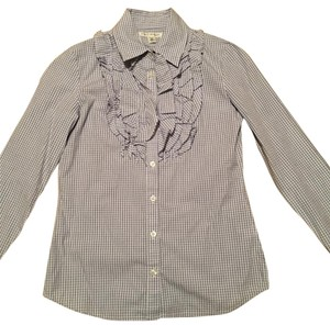 Banana Republic Top Gray Plaids