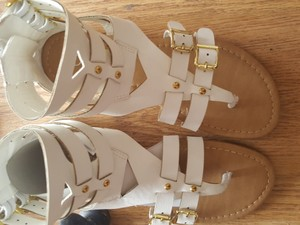 SOHO Beauty Gladiator Mod Futuristic White Sandals