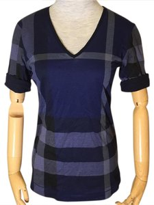 Burberry T Shirt Navy Blue