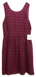 Jack by BB Dakota short dress Burgundy on Tradesy