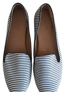 J.Crew Navy and white Flats