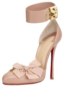 Christian Louboutin Bow D'Orsay Nude Pumps