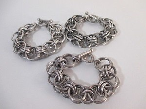 Banana Republic Banana Republic Antique Silver Double Link Toggle Bracelet
