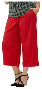 Lane Bryant Cropped Capris red