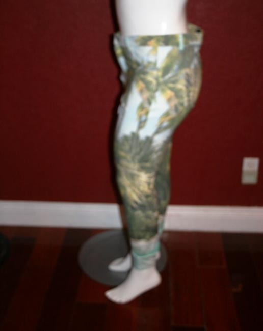 Hue Ponte Sleek Stretchy Green multi color Leggings Image 3