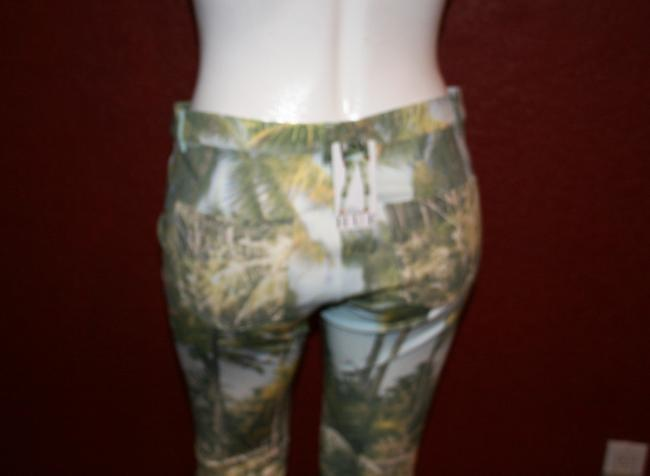Hue Ponte Sleek Stretchy Green multi color Leggings Image 6