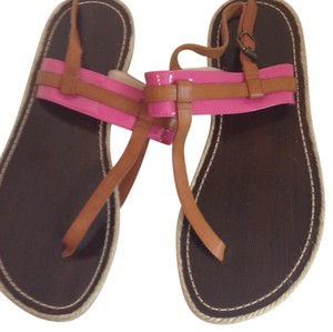 Giorgio Armani Pink and brown Sandals