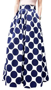 Boutique 9 Skater Maxi Maxi Skirt polka dot