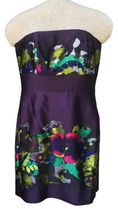 Suzi Chin Strapless Silk Dress