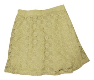 Cynthia Steffe Lace Mini Skirt White