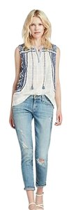 Lucky Brand Top White And Blue