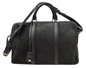 Louis Vuitton Suede Sofia Coppola Speedy Satchel in Anthracite Grey Black SC Bag