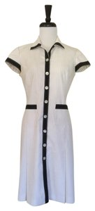 Oscar de la Renta Ivory Pinstripe Shirt Dress