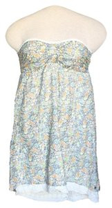 O'Neill short dress Floral Strapless on Tradesy