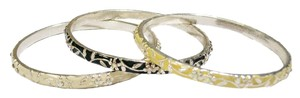 Ann Taylor LOFT Floral Stackable Bangle Bracelet Set