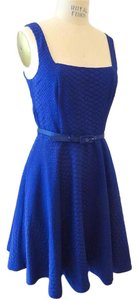 A|X Armani Exchange short dress Blue Fit And Flare Day on Tradesy