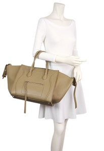 Céline Luggage Phantom Tote in Light Khaki